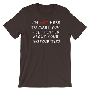 Insecurities | Short-Sleeve Unisex T-Shirt-t-shirts-Brown-S-Eggenland