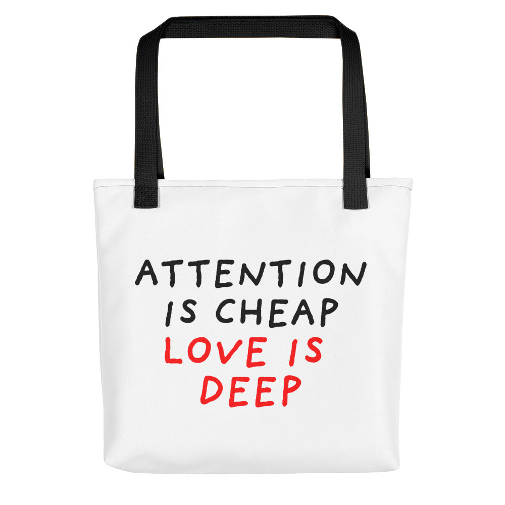 Attention Is Cheap | Tote Bag-tote bags-Black-Eggenland