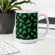 Load image into Gallery viewer, Paper Planes Pattern | Dark Green | Mug-mugs-Eggenland