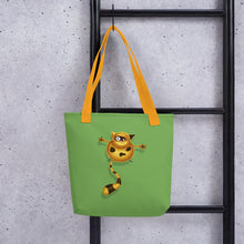 Load image into Gallery viewer, Fat Cat | Green | Tote Bag-tote bags-Eggenland