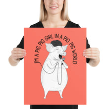"Load image into Gallery viewer, Pig singing ""Big Big World"" 