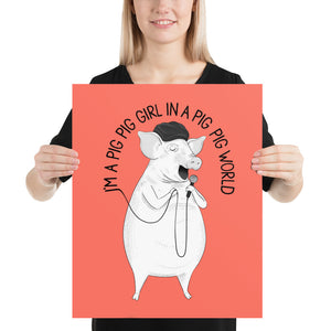 "Pig singing ""Big Big World"" 