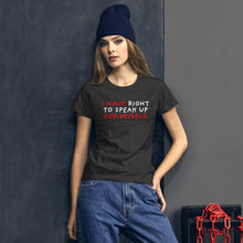 Load image into Gallery viewer, Right to Speak Up | Women's Short-Sleeve T-Shirt-t-shirts-Eggenland