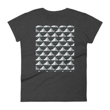 Load image into Gallery viewer, Paper Hats Pattern | Black and White | Women's Short-Sleeve T-Shirt-t-shirts-Heather Dark Grey-S-Eggenland