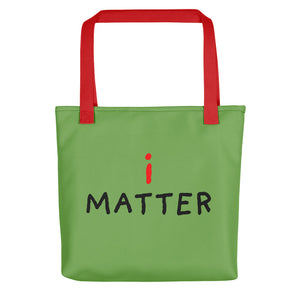 i Matter | Green | Tote Bag-tote bags-Red-Eggenland