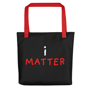 i Matter | Black | Tote Bag-tote bags-Red-Eggenland