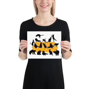 Black Cats Party | Illustration | Poster-posters-8×10-Eggenland