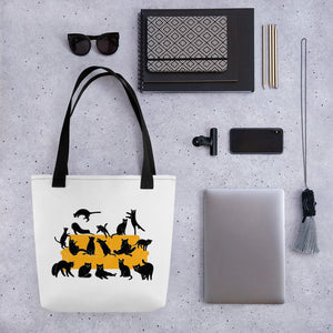 Black Cats Party | Tote Bag-tote bags-Eggenland