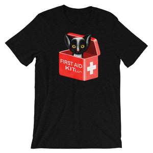 First Aid Kitten | Short-Sleeve Unisex T-Shirt-t-shirts-Black Heather-S-Eggenland