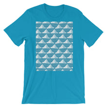 Load image into Gallery viewer, Paper Hats Pattern | Blue | Short-Sleeve Unisex T-Shirt-t-shirts-Aqua-S-Eggenland