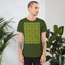 Load image into Gallery viewer, Flying Birds Pattern | Green | Short-Sleeve Unisex T-Shirt-t-shirts-Eggenland