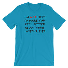 Load image into Gallery viewer, Insecurities | Short-Sleeve Unisex T-Shirt-t-shirts-Aqua-S-Eggenland