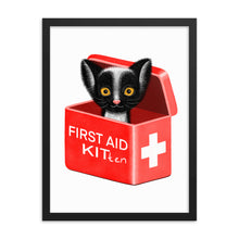 Load image into Gallery viewer, First Aid Kitten | Illustration | Framed Poster-framed posters-Eggenland