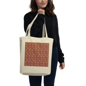 Flying Birds Pattern | Red | Eco Tote Bag-tote bags-Eggenland