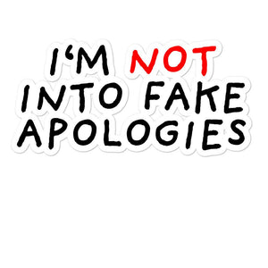 Fake Apologies | Bubble-free stickers-stickers-Eggenland