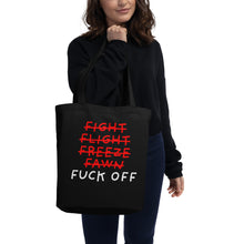 Load image into Gallery viewer, Five F of Fear | Eco Tote Bag-tote bags-Eggenland