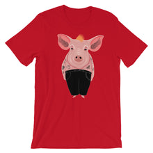 Load image into Gallery viewer, Cool Pig With Tattoos | Short-Sleeve Unisex T-Shirt-t-shirts-Red-S-Eggenland