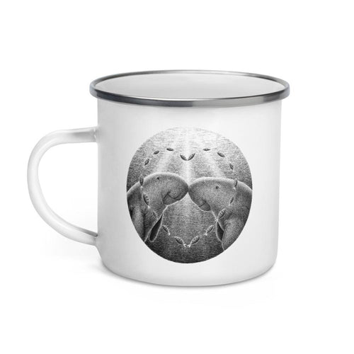 Dugongs Have One Partner | Enamel Mug-enamel mugs-Eggenland