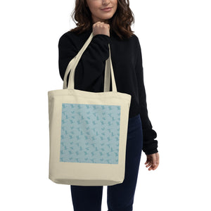 Flying Birds Pattern | Blue | Eco Tote Bag-tote bags-Eggenland