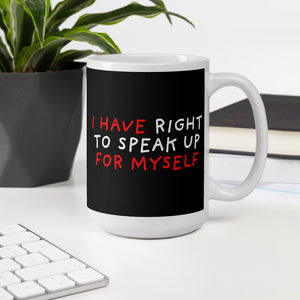 Right To Speak Up | Black | Mug-mugs-Eggenland
