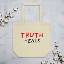 Load image into Gallery viewer, Truth Heals | Eco Tote Bag-tote bags-Oyster-Eggenland