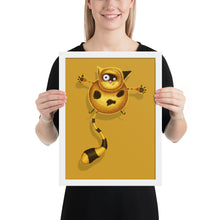 Load image into Gallery viewer, Fat Cat | Illustration | Golden | Framed Posters-framed posters-White-12×16-Eggenland
