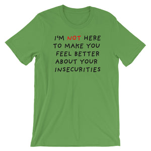 Insecurities | Short-Sleeve Unisex T-Shirt-t-shirts-Leaf-S-Eggenland