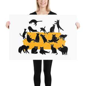 Black Cats Party | Illustration | Poster-posters-24×36-Eggenland