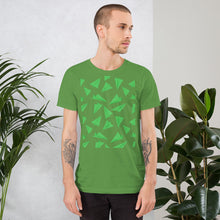 Load image into Gallery viewer, Paper Planes Pattern | Green | Short-Sleeve Unisex T-Shirt-t-shirts-Eggenland