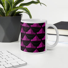 Load image into Gallery viewer, Newspaper Hats Pattern | Pink | Mug-mugs-Eggenland