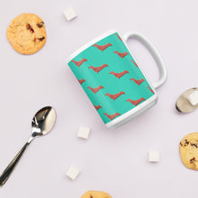 Load image into Gallery viewer, Cute Dachshund | Turquoise | Mug-mugs-Eggenland