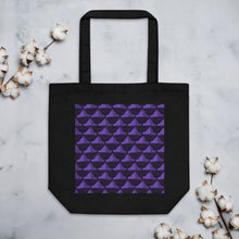 Load image into Gallery viewer, Newspaper Hats Pattern | Violet | Eco Tote Bag-tote bags-Black-Eggenland