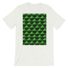 Load image into Gallery viewer, Paper Hats Pattern | Green | Short-Sleeve Unisex T-Shirt-t-shirts-Ash-S-Eggenland