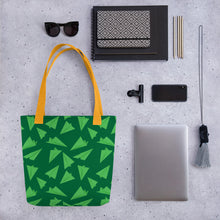 Load image into Gallery viewer, Paper Planes Pattern | Green | Tote Bag-tote bags-Eggenland