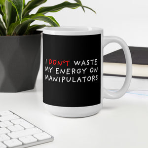 Don't Waste Energy | Black | Mug-mugs-Eggenland
