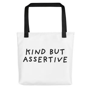 Kind But Assertive | Tote Bag-tote bags-Black-Eggenland