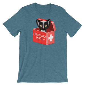 First Aid Kitten | Short-Sleeve Unisex T-Shirt-t-shirts-Heather Deep Teal-S-Eggenland