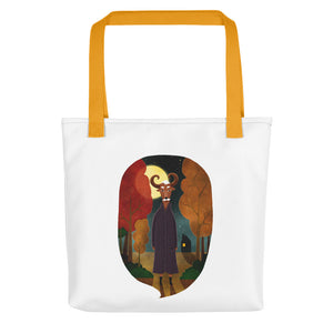 Deer Creature at Night | Tote Bag-tote bags-Yellow-Eggenland