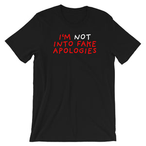 Fake Apologies | Short-Sleeve Unisex T-Shirt-t-shirts-Black-S-Eggenland