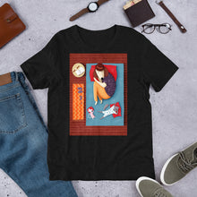 Load image into Gallery viewer, Good Night Sleep Tight | Dog, Cat and Mouse | Short-Sleeve Unisex T-Shirt-t-shirts-Eggenland