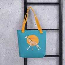 Load image into Gallery viewer, Giraffe and Sun | Blue | Tote Bag-tote bags-Eggenland