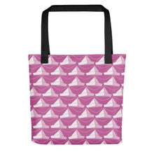 Load image into Gallery viewer, Newspaper Hats Pattern | Pink | Tote Bag-tote bags-Black-Eggenland