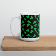 Load image into Gallery viewer, Paper Planes Pattern | Dark Green | Mug-mugs-15oz-Eggenland