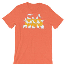 Load image into Gallery viewer, Cats Party | Short-Sleeve Unisex T-Shirt-t-shirts-Heather Orange-S-Eggenland