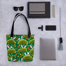 Load image into Gallery viewer, Rabbits and Carrots | Green | Tote Bag-tote bags-Eggenland