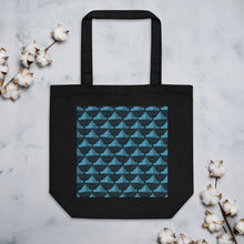 Load image into Gallery viewer, Newspaper Hats Pattern | Dark Blue | Eco Tote Bag-tote bags-Black-Eggenland