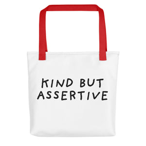 Kind But Assertive | Tote Bag-tote bags-Red-Eggenland