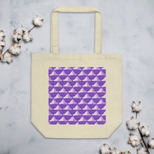 Load image into Gallery viewer, Newspaper Hats Pattern | Violet | Eco Tote Bag-tote bags-Oyster-Eggenland