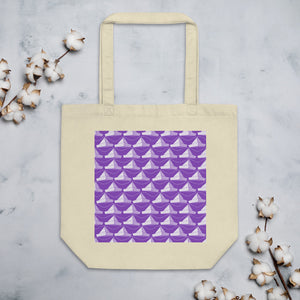 Newspaper Hats Pattern | Violet | Eco Tote Bag-tote bags-Oyster-Eggenland