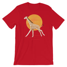 Load image into Gallery viewer, Giraffe and Sun | Short-Sleeve Unisex T-Shirt-t-shirts-Red-S-Eggenland